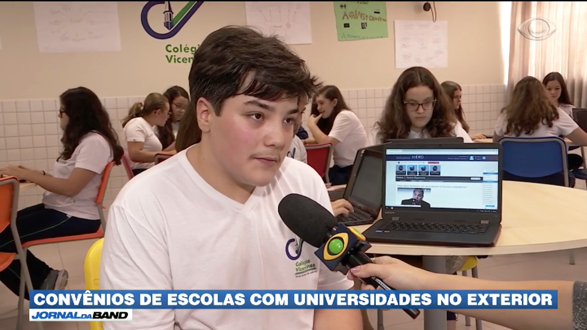 [High School no Jornal da Band]