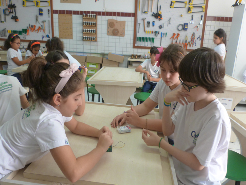 [Aula Maker - Iniciação da construção do circuito elétrico - 3°Ano ]
